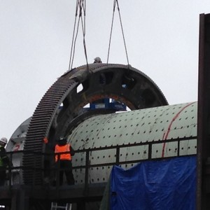 ball mill gear flip and alignment