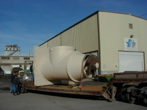 rebuild of pump power plant includes large machining