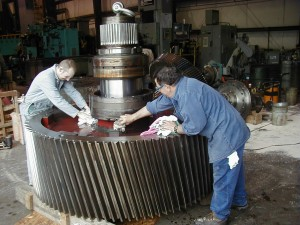 millwright services on large gear box.