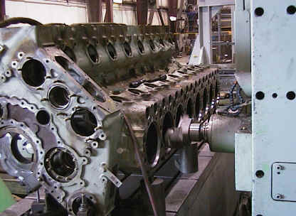 Engine machine shop for blocks, heads, valves, connecting rods.