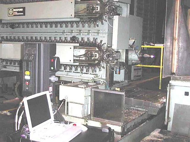 Machine tool rebuild using laser tacker to verify three dimensional geometry of machine tool.