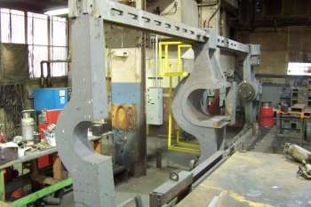 Large horizontal press in our machine shop.