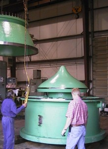 millwright mechanical service assembling large hydraulic valve