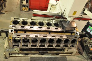 Engine block machined Rottler CNC machining center in our Salt Lake City, Utah machine shop.