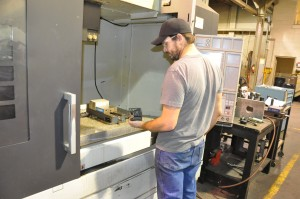 Machining on Mori Seiki 4 axis vertical machining center in Salt Lake City, Utah machine shop.