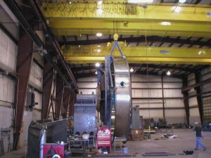 Heavy lifting with our 50 ton cranes in Salt City, Utah machine shop.
