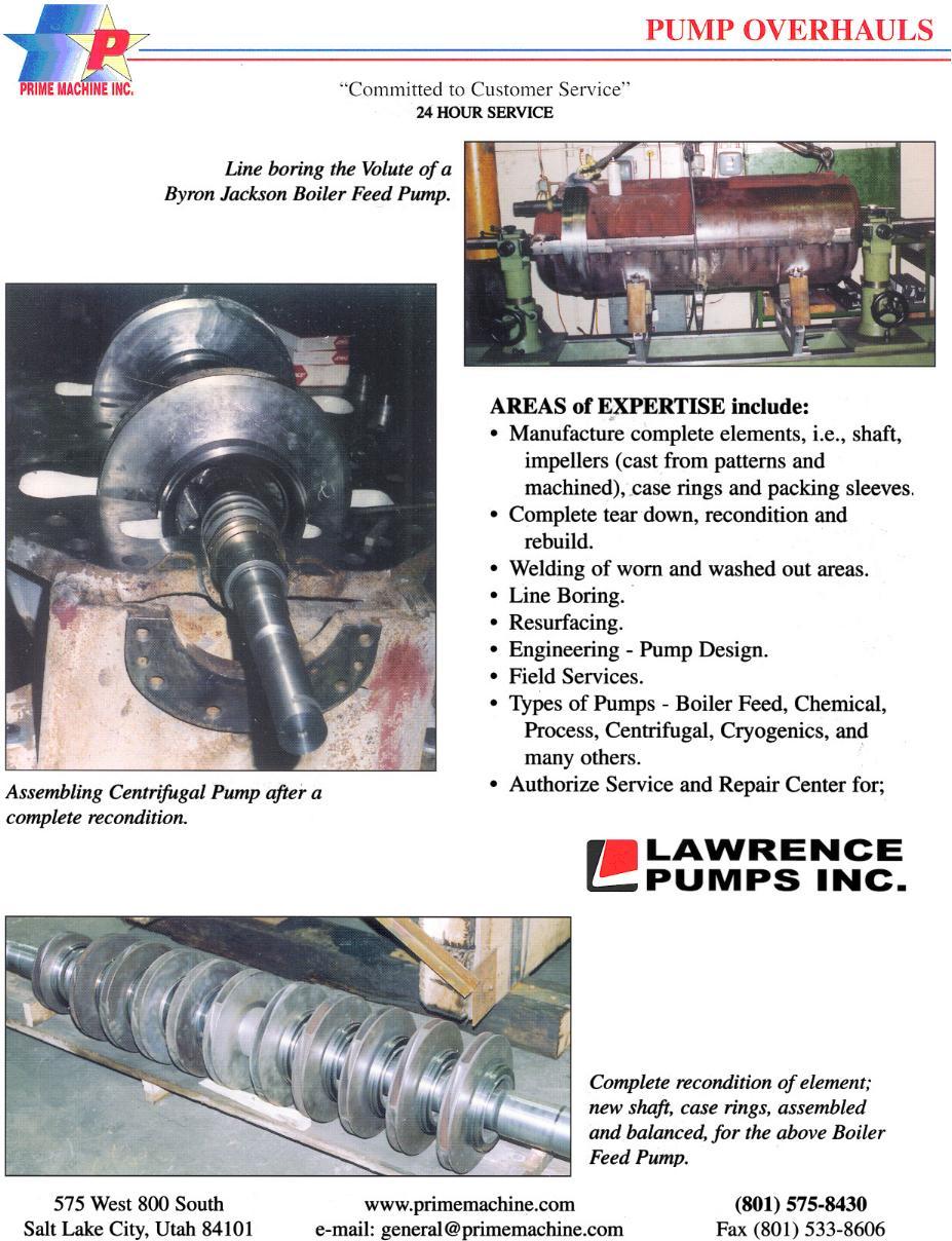 Pump Repairs - Prime Machine, Inc