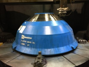 Wear mantle cone crusher machined