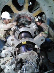 clam shell on site machining skilled millwrights large shaft