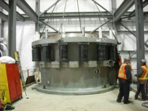 cone crusher in for shop repair and assembly