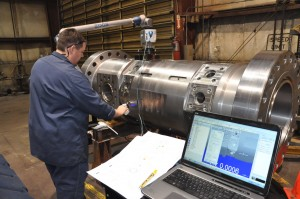 Faro arm inspection, 3D measurment of oil well blow out preventer machined in our Salt Lake City Machine shop.
