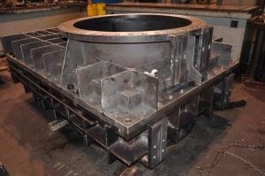 Jet Valve upstream and downstream body fabricated and machined.