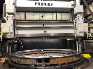 Machining of a lower wicket gate bearing ring on large vertical CNC